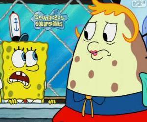 Puzle SpongeBob a Paní z listového