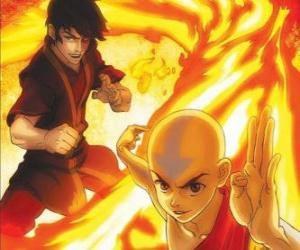 Puzle Aang a Zuko boje