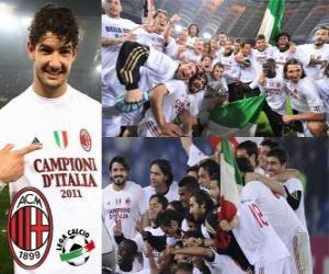 Puzle AC Milán, Italská fotbalová liga mistr - Lega Calcio 2010-11