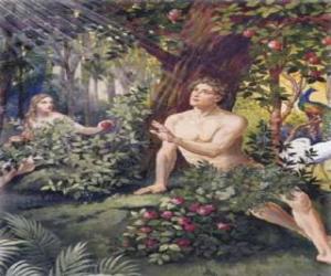 Puzle Adam a Eva v ráji