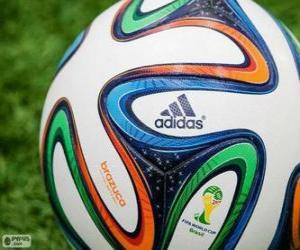 Puzle Adidas Brazuca, oficiální míč mistrovství světa Brazílie 2014
