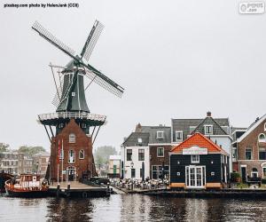 Puzle Adriaan Mill, Haarlem, Nizozemsko