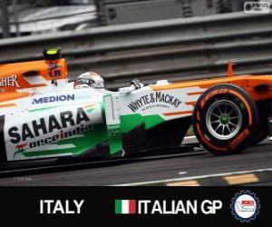 Puzle Adrian Sutil - Force India - Monza, 2013