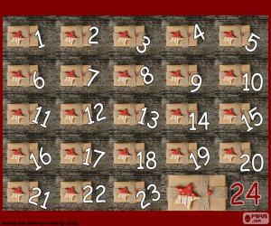 Puzle Adventní kalendář dárky