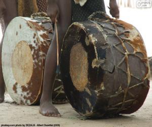 Puzle Africké bubny