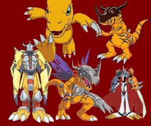 Puzle Agumon je jedním z hlavních Digimon. Agumon je velmi statečný a zábava Digimon