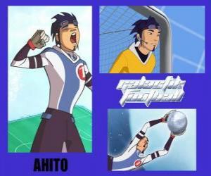 Puzle Ahito je brankář fotbalového týmu galaktické Snow Kids s číslem 1