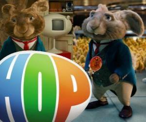 Puzle Aktuální Velikonoce Králíček a otec EB. Hop, film