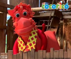 Puzle Alípio, elegantní kůň z farmy Cocoricó