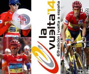 Puzle Alberto Contador, vítěz turné Španělsko 2014