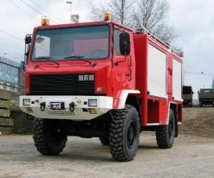 Puzle All-Terrain hasičský vůz