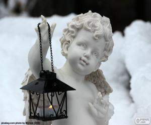 Puzle Anděl s lucernou