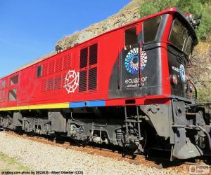 Puzle Andské vlak z Ekvádoru