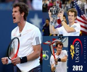 Puzle Andy Murray vítěz US Open 2012