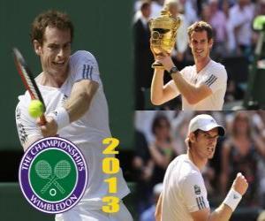 Puzle Andy Murray vítěz Wimbledonu 2013