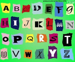 Puzle Anglická abeceda