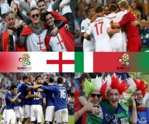 Puzle Anglie - Itálie, čtvrtfinálové, Euro 2012