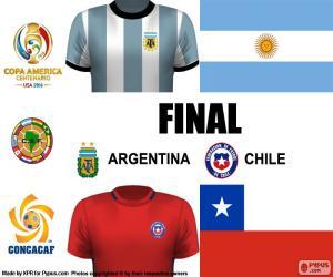Puzle ARG-CHI finále Copa America 2016