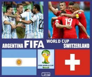 Puzle Argentina - Švýcarsko, osmé finále, Brazílie 2014
