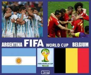 Puzle Argentina - Belgie, čtvrtfinále, Brazílie 2014