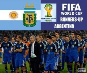 Puzle Argentina klasifikován z Brazílie 2014 fotbalové mistrovství světa 2.