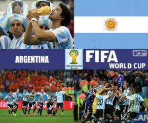 Puzle Argentina slaví své klasifikace, Brazílie 2014
