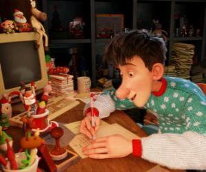 Puzle Arthur Christmas, odpovědný za odpovědi na dopisy od dětí na světě