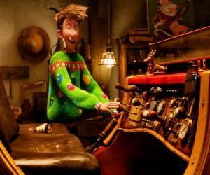 Puzle Arthur Christmas pozoruje staré saně
