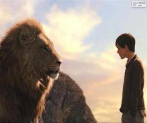 Puzle Aslan mluvit s Edmundem