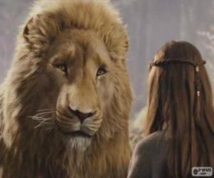 Puzle Aslan mluvit s Lucy
