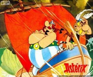 Puzle Asterix a Obelix, dva přátelé jsou protagonisty dobrodružství Asterix Gálie