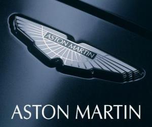 Puzle Aston Martin logo, britský výrobce automobilů