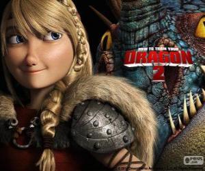 Puzle Astrid s její okřídlený drak Stormfly, Jak vycvičit Draka 2