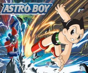 Puzle Astro létání díky jeho velmoci, nohy přeměněna na raketové trysky