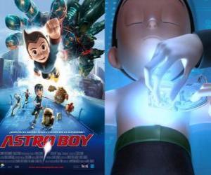 Puzle Astroboy nebo Astro Boy, super-robot vytvořený Dr Tenma k obrazu svého mrtvého syna Tobyho a jeho vzpomínky