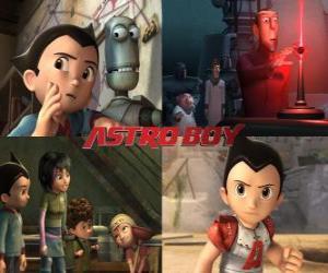 Puzle Astroboy nebo Astro Boy, s přáteli