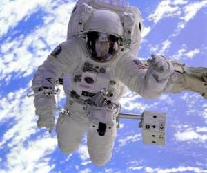 Puzle Astronaut prostoru mise