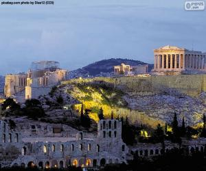 Puzle Athénská akropolis, Řecko