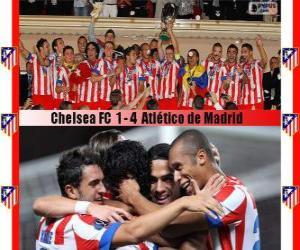 Puzle Atlético de Madrid šampión 2012 UEFA Super Cup