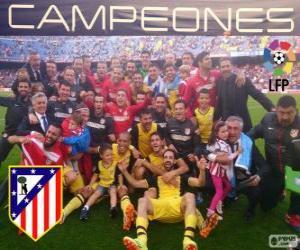 Puzle Atlético Madrid, mistr španělské fotbalové ligy 2013-2014
