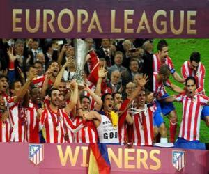 Puzle Atlético Madrid, vítězka z Evropy UEFA liga 2011-2012
