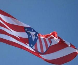 Puzle Atlético Madrid vlajka