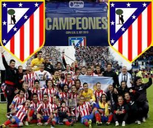 Puzle Atletico Madrid mistrem Copa del Rey 2012-2013