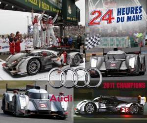 Puzle Audi R18 TDI 2011 24 hodin Le Mans mistrů