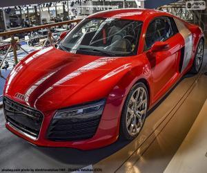Puzle Audi R8 červená