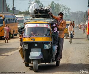 Puzle Auto rikša