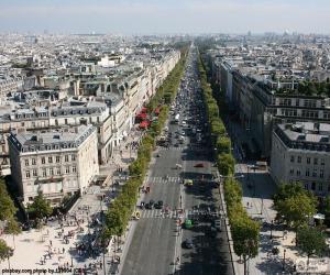 Puzle Avenue des Champs-Elysée, Paříž