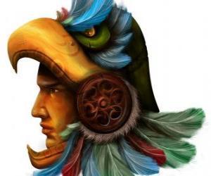 Puzle Aztécký válečník