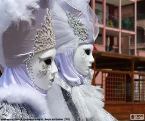 Puzle Bílé masky