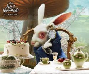 Puzle Bílý králík vždy ve spěchu